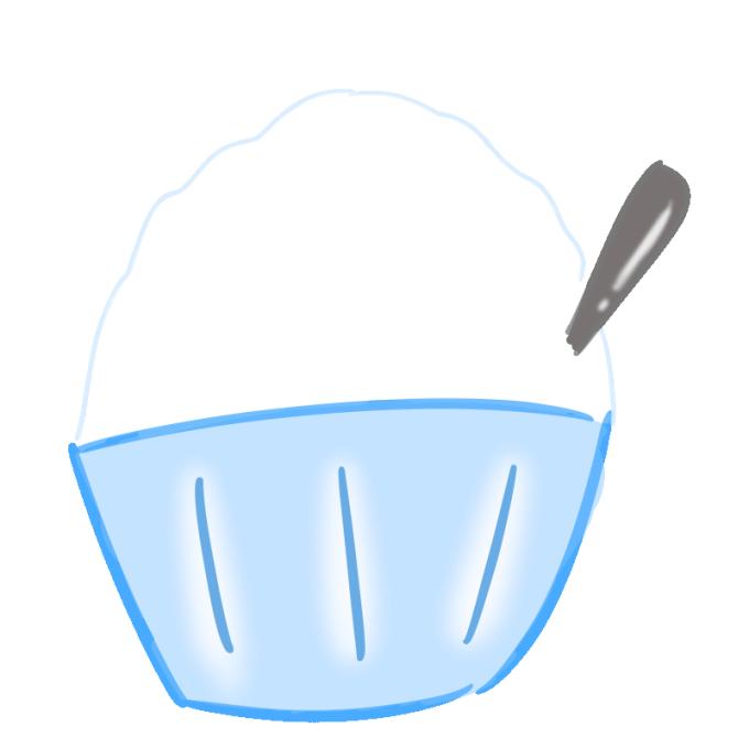懐かしいかき氷の無料イラスト(みぞれ)