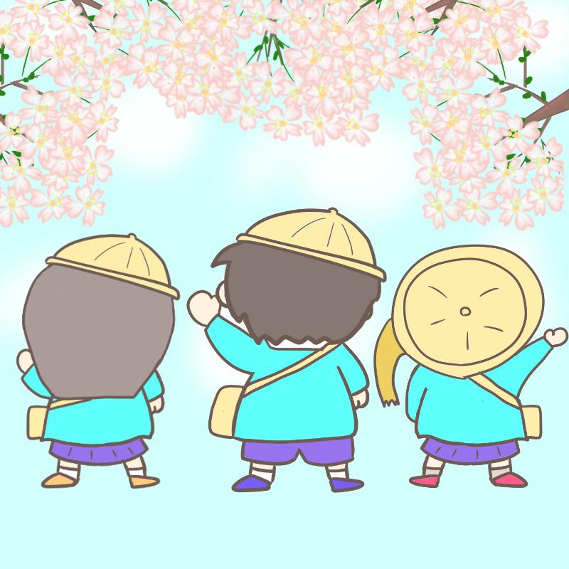入園式 ワンピース風(桜バージョン)