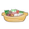 今夜は俺が鍋奉行!鍋のイラスト