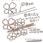 小学生にもオススメ!ボールペンで超簡単な桜の描き方