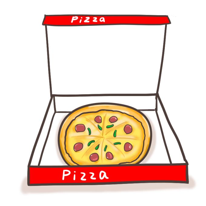 宅配ピザのフリーイラスト