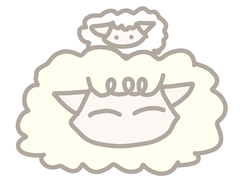 羊の親子 二段重ね