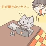 パソコンにいたずらする猫のフリーイラスト