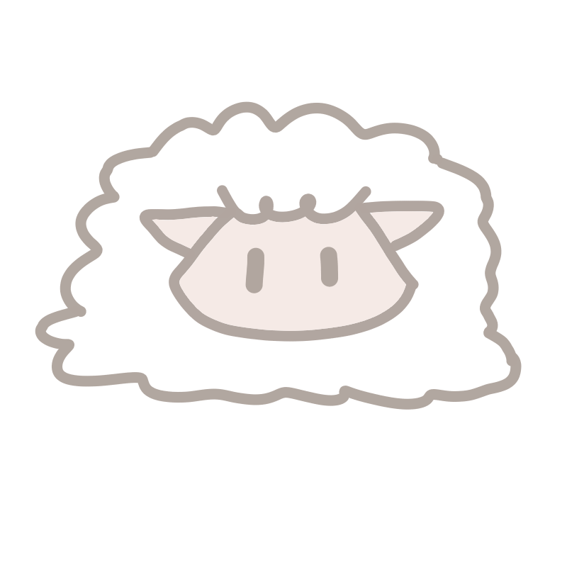 おすまし顔の羊