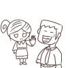 まずは奥さんのターン!夫婦喧嘩の無料イラスト