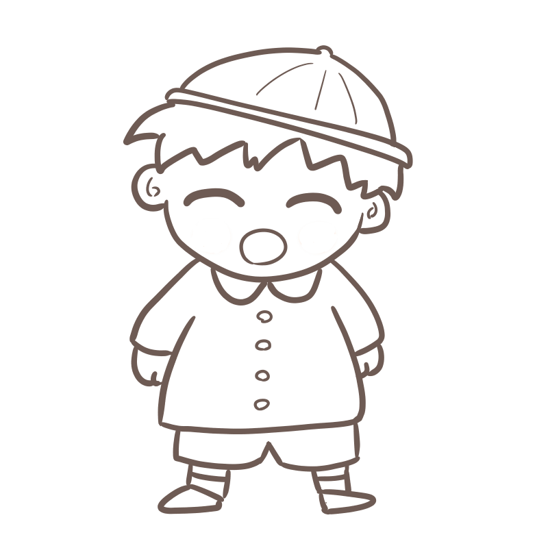 入園式 男の子(線画)