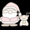 サンタ&トナカイでっ!可愛いクリスマス無料イラスト集