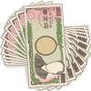 福沢家御一行様、10名入りまぁ~す!10万円の無料イラスト