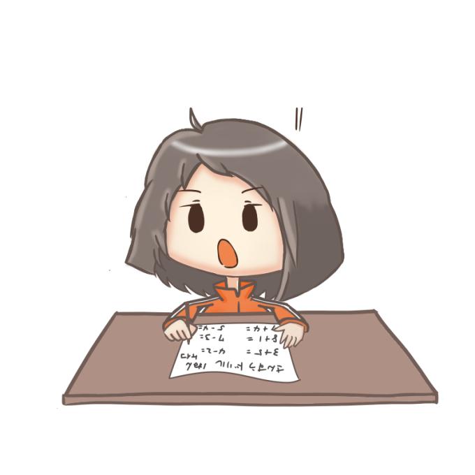 勉強する女の子 閃き