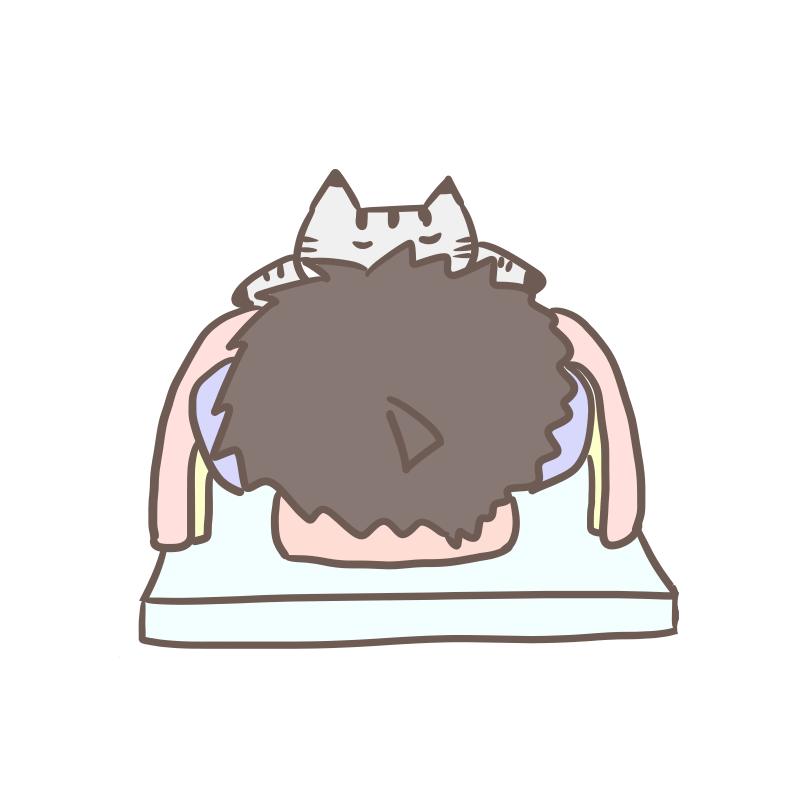 寝苦しいのはだいたいがコイツのせい(猫 文字無し)