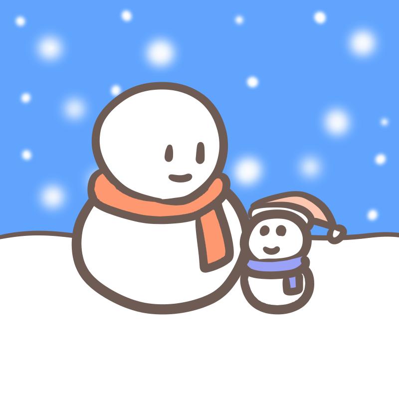 雪だるま 親子