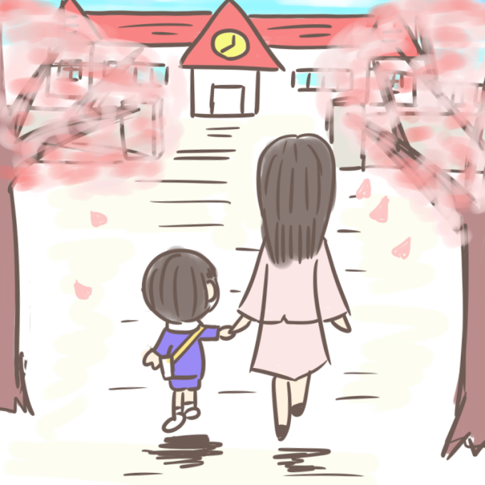 挿絵用!入園式のイメージ