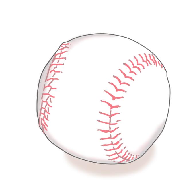 硬球のイラスト
