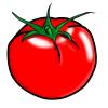真っ赤な完熟トマトのフリーイラスト