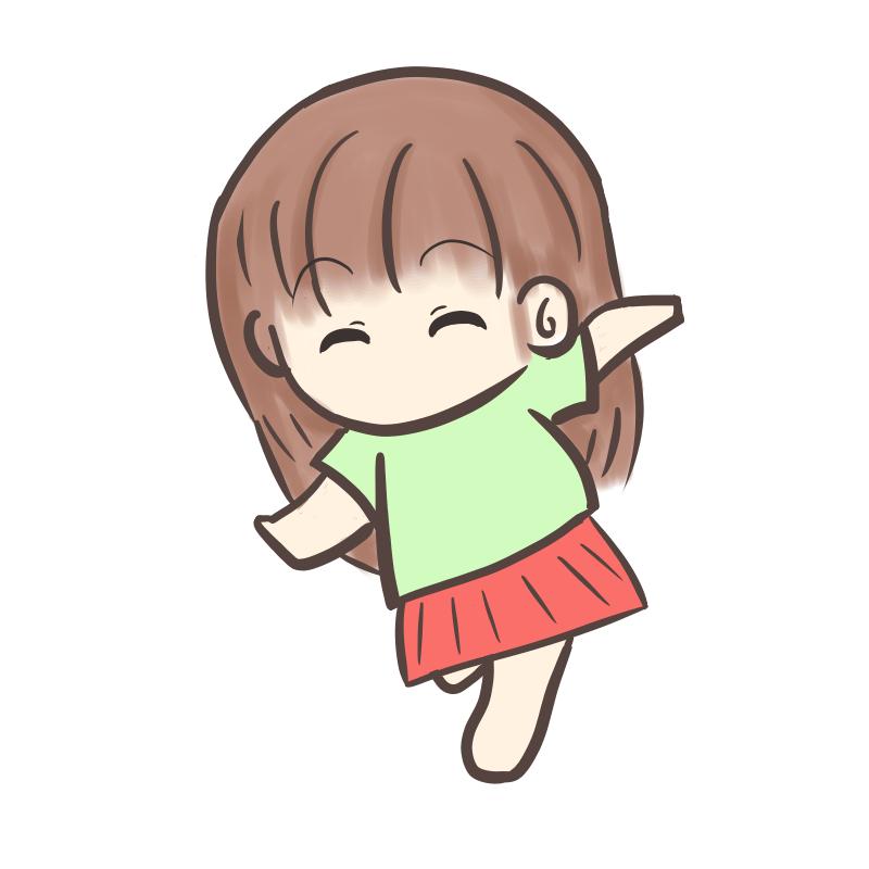 裸足で走る女の子1