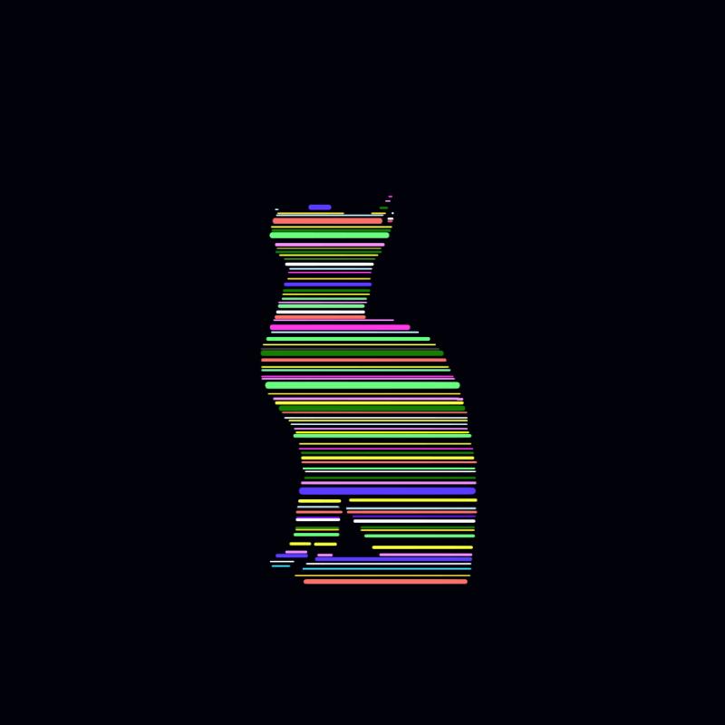 ファースト線だけ猫(反転)