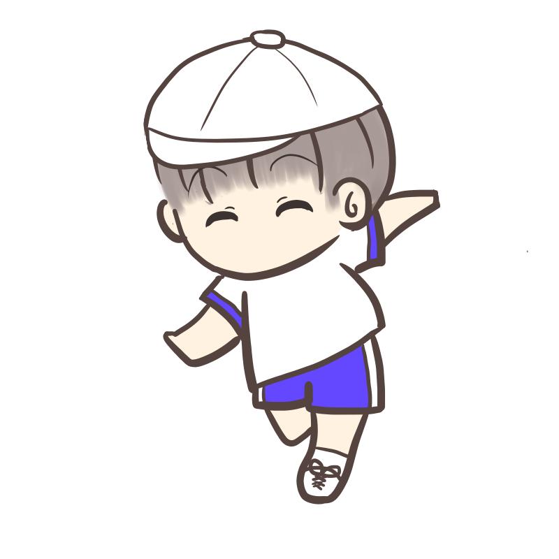 運動会 かけっこ 男の子 白帽子