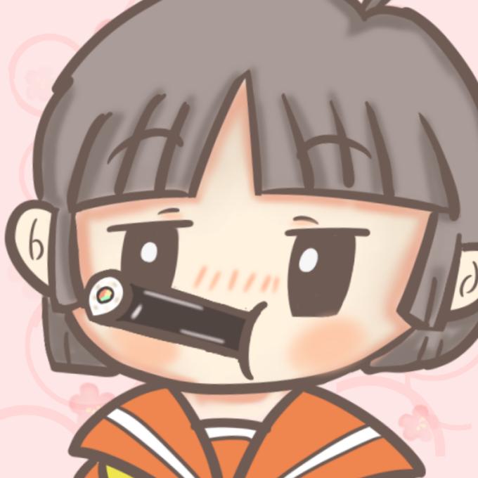 恵方巻を食べる女子高生