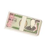 100万円あったら…どうする?100万円(帯付)のフリーイラスト