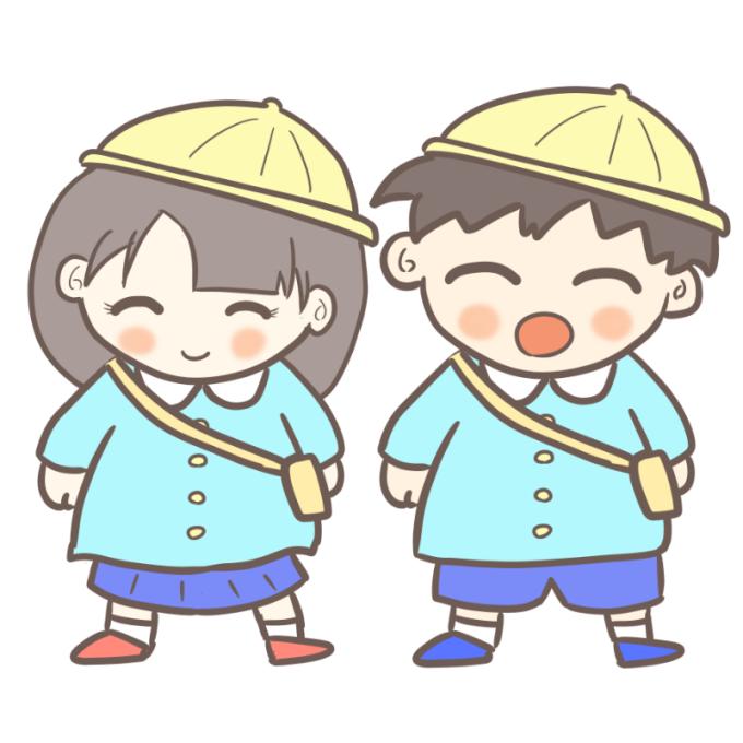 入園式 男の子と女の子