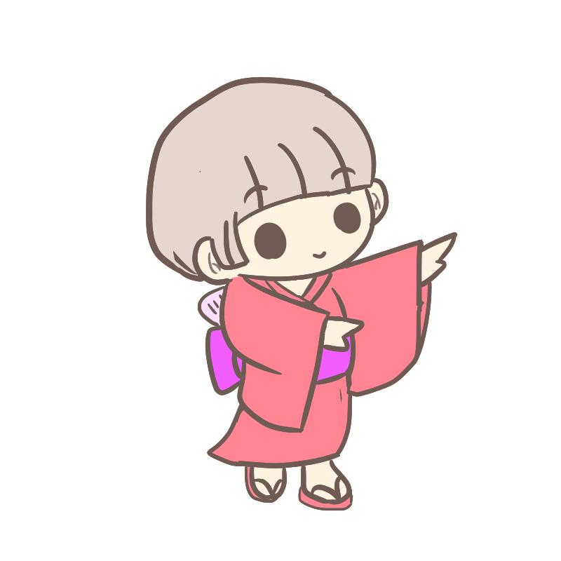 盆踊り ショートヘア