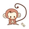 100万円拾ったけど…!2016年の年賀状用猿のイラスト