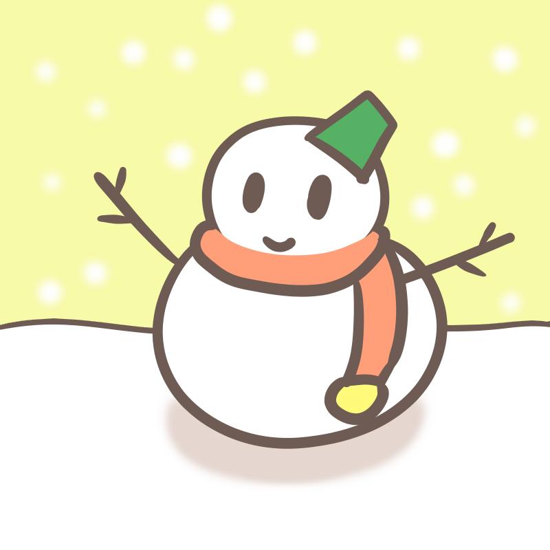 雪だるま 角度を変えて