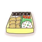 食育用イラスト練習用!から揚げ弁当のイラスト