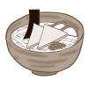 ツルツル麺とお揚げのハーモニー!きつねうどんのフリーイラスト