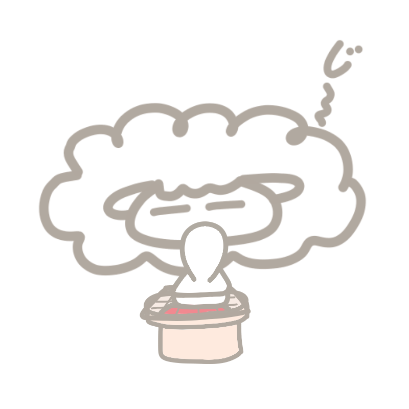 餅の焼けるのを待つひつじ
