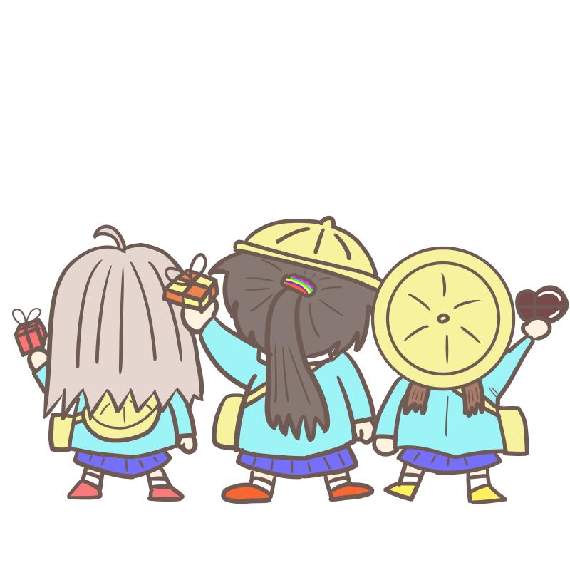 バレンタイン!決戦の朝(背景無)