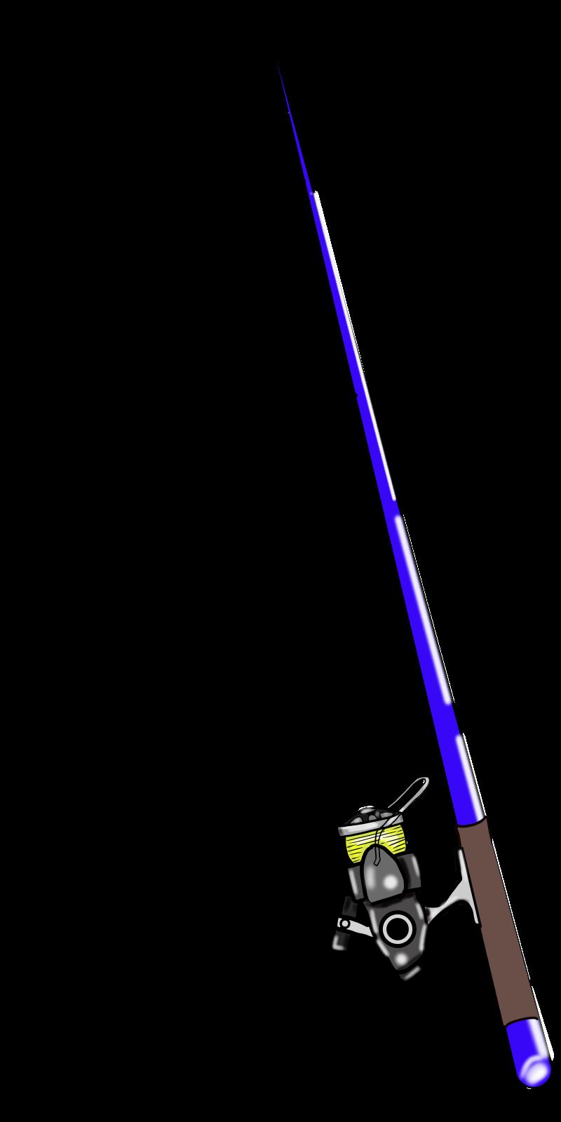仕掛けは自分で書いてよね♡釣り竿とリールの無料イラスト2015-6-8 青