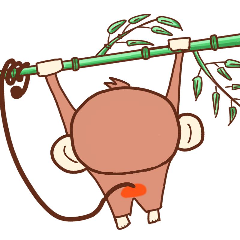 ... 年賀状 猿のイラスト 七夕にも : 猿 可愛い イラスト : イラスト
