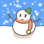 小学生にもオススメ!ボールペンで超簡単な雪だるまのイラストの描き方