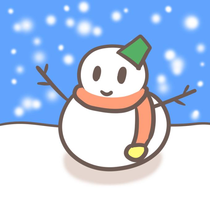 雪だるまの描き方