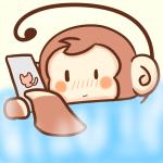 改訂版!お風呂でスマホをいじるサル/喜怒哀楽表情バージョン