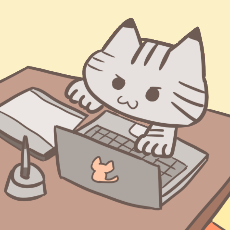 パソコンに悪戯する猫のフリーイラスト