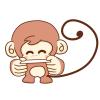 名刺を渡すサル!ビジネス用2016年の年賀状猿のイラスト