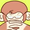 アニメの父さんっぽいサルのイラスト