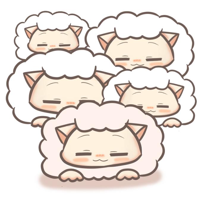 萌え羊の描き方