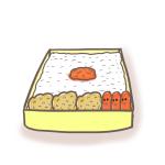 サラリーマン弁当のイラスト