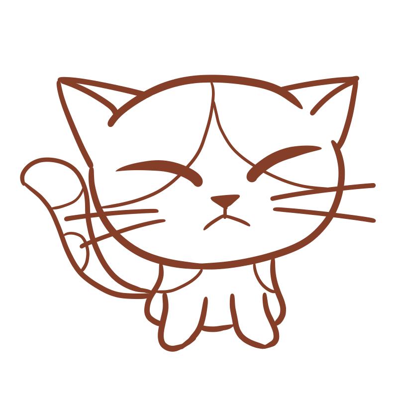 三毛猫(線画)