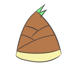 筍と可愛い竹の子のフリーイラスト