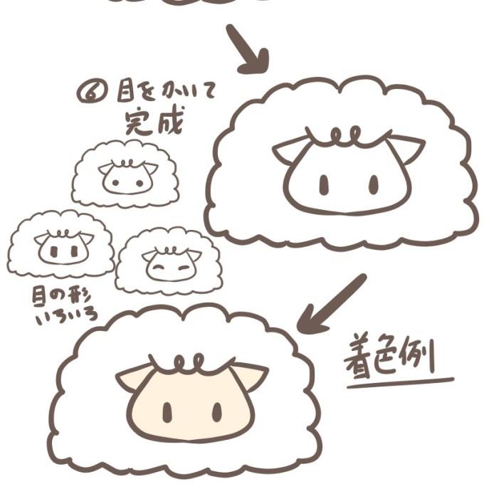 可愛い羊の描き方 アイキャッチ