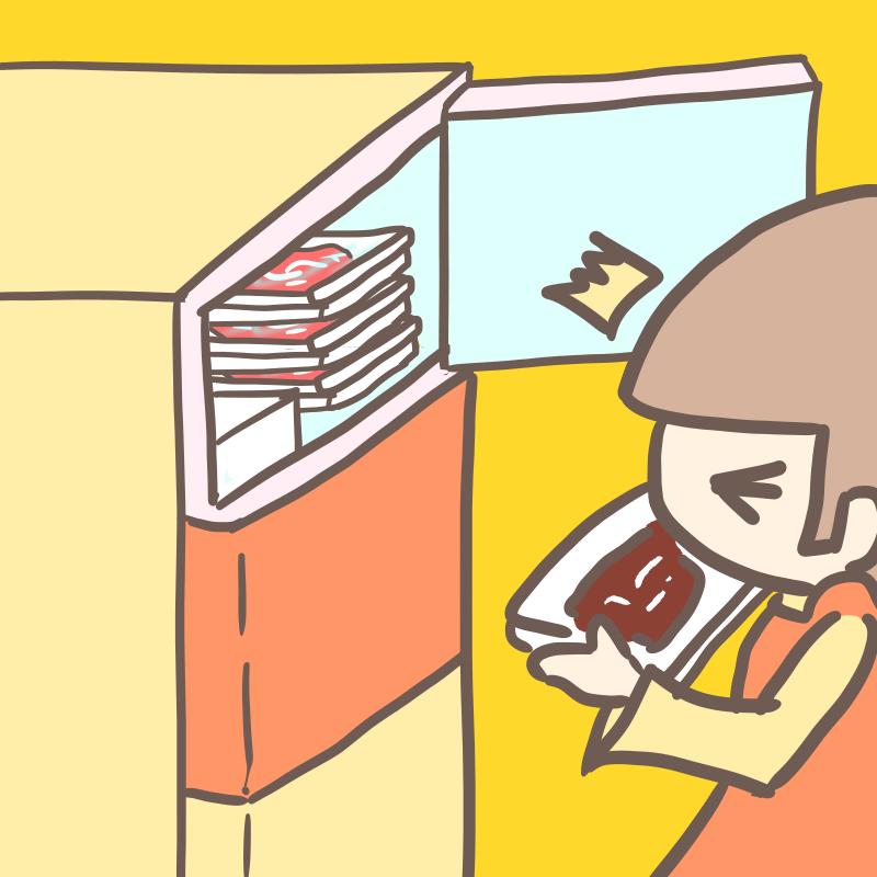 肉 冷凍焼け(黄色)