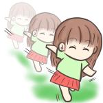 裸足で走る女の子のフリーイラスト