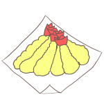 エビの天ぷらのフリーイラスト