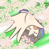 卒業式とか入学式の帰り道、女子中高生が桜の木の下を通りがかった時やってそうなポーズのフリーイラスト